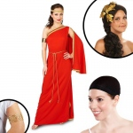 Royal Ruby Toga Adult Costume Kit L: Large, Everyday, Adult