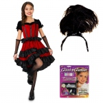 Can Can Dancer Child Costume Kit S: Small, Everyday, Female, Child