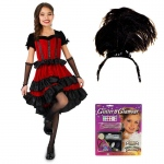 Can Can Dancer Child Costume Kit M: Medium, Everyday, Female, Child