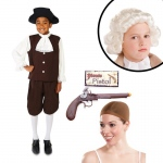 Colonial Boy with Jabot Child Costume Kit L: Large, Everyday, Male, Child