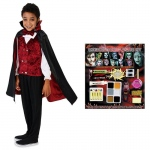 Transylvanian Vampire Child Costume Kit S: Small, Everyday, Male, Child