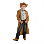 Cowboy Duster with Hat (4-6): Brown, , Everyday, Unisex, Child