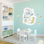 BuySeasons Dr. Seuss Oh the Places You'll Go Inspirational Quote Giant Wall Decal