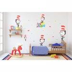 BuySeasons Dr. Seuss Cat's Meow Cat in the Hat Giant Wall Decal