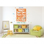 BuySeasons Dr. Seuss Street Art Today You Are You Inspirational Quote Giant Wall Decal