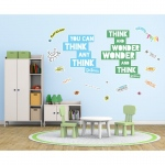 BuySeasons Dr. Seuss Street Art Think and Wonder Inspirational Quote Giant Wall Decal