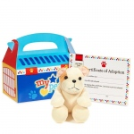 Blue Pet Carrier w/ Dog Plush: Birthday