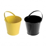 BuySeasons Black & Yellow Buckets (4) Black & Yellow