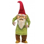 Big Head Evil Gnome Adult Costume: Red/Green, One-Size, Everyday, Male, Adult