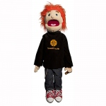 Sunny Toys Boy: Red Hair in Black Shirt, 28""