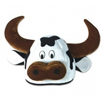 Cow Head Party Hat Adult: Birthday