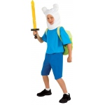 Adventure Time - Finn Deluxe Child Costume: Blue/Yellow, Medium, Everyday, Male, Child