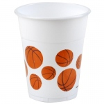 Amscan Basketball 14 oz. Plastic Cups