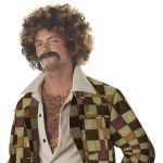 California Costumes Disco Dirt Bag Wig & Moustache Adult One-Size