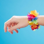 Silk 'N Petals Rainbow Floral Wristlets / Anklets (1): Multi-colored, Birthday