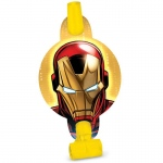 Amscan Avengers Assemble Blowouts Blue/Yellow