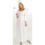 Angel Adult Costume: White, One-Size, Everyday, Female, Adult