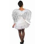 Forum Novelties White Feather Angel Wings with Glitter One-Size
