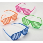 Neon Shutter Shades Assorted (12) - Multi-colored
