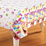 Barbie Sparkle Plastic Tablecover: Multi-colored, Birthday