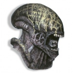 Alien Deluxe Adult Mask: Gray, One Size, Halloween, Male, Adult