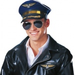 Franco American Novelty Deluxe Pilot Captain Hat