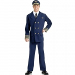 Forum Novelties Airline Pilot Adult Costume Standard (One-Size)