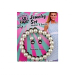 Forum Novelties 50's Pearl Necklace and Earrings Set One-Size