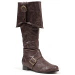 Men's Brown Pirate Boots - Small 8/9