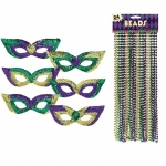 BuySeasons Mardi Gras Party Pack Bundle One-Size
