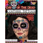 Forum Novelties Day of the Dead Female Tattoo Face - Adult One Size