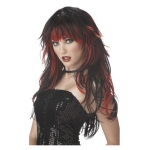 California Costumes Adult Red And Black Tempting Tresses Wig