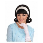 Forum Novelties 1950s Wig W/detachable Headband - Black