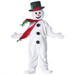 Adult Snowman Mascot Costume: STANDARD, Everyday, Adult