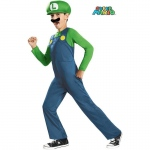 Child Super Mario Bros Luigi Costume - SMALL