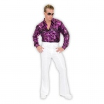 Adult White Disco Pants - Small