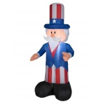 4' Airblown Uncle Sam: Multi-colored, 4th of July, Unisex