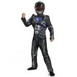 Disguise Black Ranger Movie 2017 Classic Muscle Child Costume Small