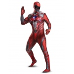 Disguise Red Ranger Movie 2017 Bodysuit Teen Costume