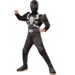 Agent Venom Muscle Chest Deluxe Child Costume S: Small, Everyday, Child