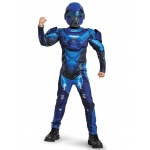 Disguise Blue Spartan Classic Muscle Child Costume Small
