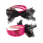 Forum Novelties 80s Lace Headband With Bow