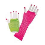 Forum Novelties 80s Neon Fishnet Glove Set