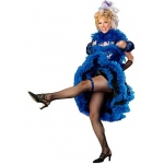 Cancan Girl Blue Adult Costume - Small