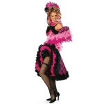 Cancan Girl Pink Adult Costume - Large