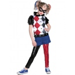 DC Superhero Girls Harley Quinn Deluxe Child Costume L: Large, Everyday, Child