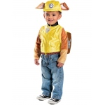 Disney Jr.'s Paw Patrol Rubble Deluxe Toddler Costume XS: X-Small, Everyday, Toddler