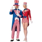 Uncle Sam Deluxe Adult Costume - Large