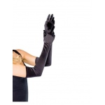 Leg Avenue Adult Long Black Satin Gloves One-Size