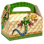 Jungle Party Empty Favor Boxes (stock): Multi-colored, Birthday